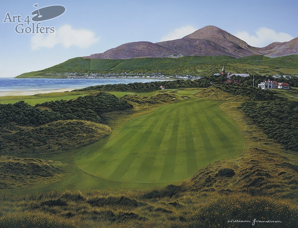 Art4golfers Royal County Down 9th Hole By William