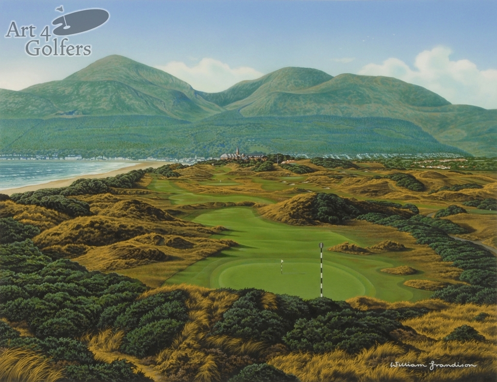 Art4golfers Royal County Down 3rd Hole By William Grandison